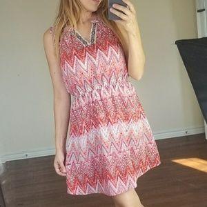 Fresh Tart Tribal Pink Pattern Dress S